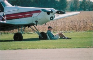Eric Leaning on Pawnee Wheel